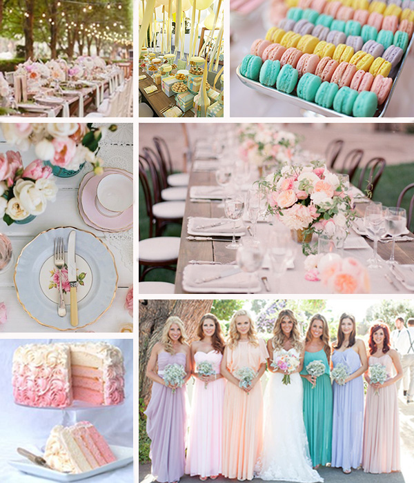 Moodboard pastello Glam Events