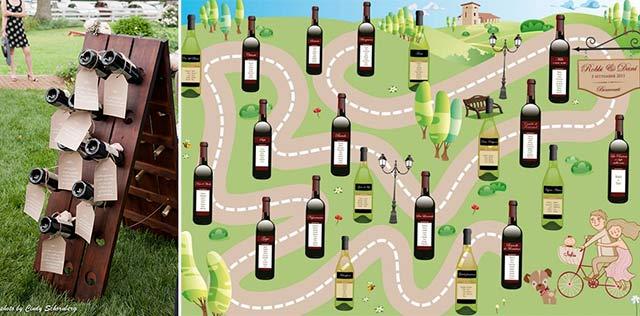 tableau con bottiglie di vino