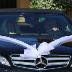 arrivo degli sposi in macchina 1