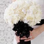 bouquet bianco e nero Glam Events 1