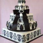 matrimonio bianco e nero torta Glam Events 1