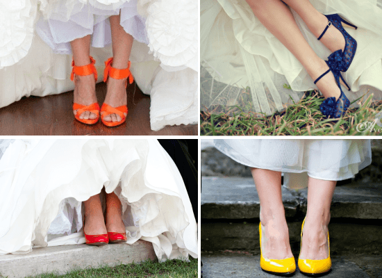 coloured wedding shoes 1