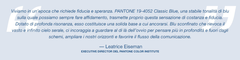 pantone color of the year 2020 classic blue lee eiseman quote it